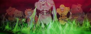 Skeletons rise from the Black Cauldron