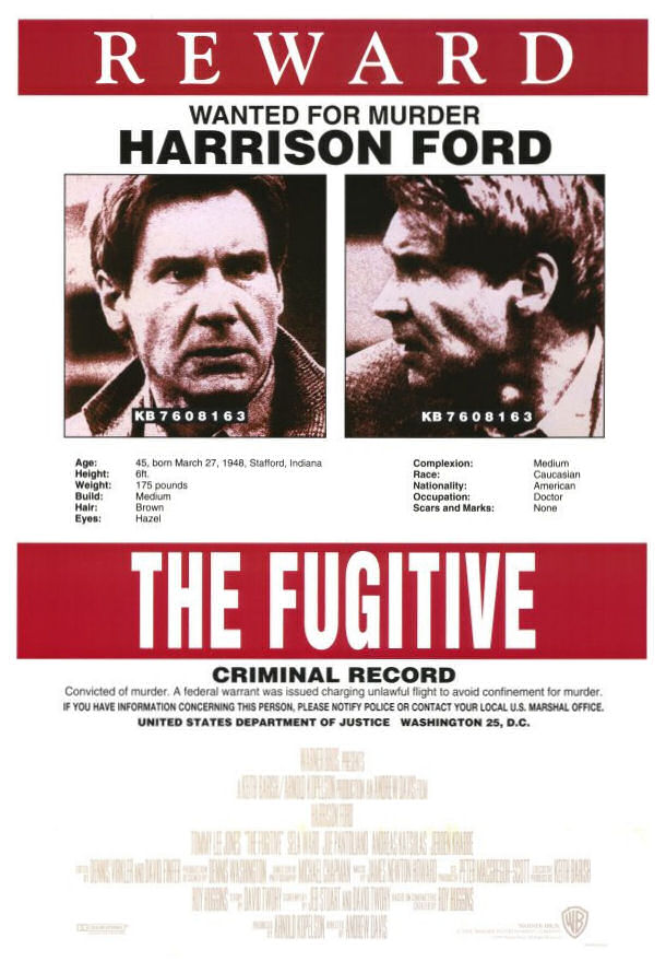 an analysis of the fugitive a film starring harrison ford 'the fugitive' is a 1993 film starring iconic leading man harrison ford do you think you know all there is to know about this amazing film take these 12 questions and put your 'fugitive' knowledge to the test.