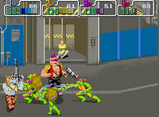 TMNT Arcade Screenshot : Morgan on Media